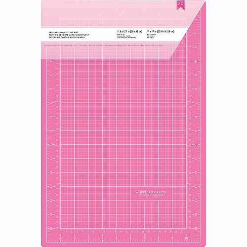 "Pink Double-Sided Self-Healing Cutting Mat, 12"" x 18"""
