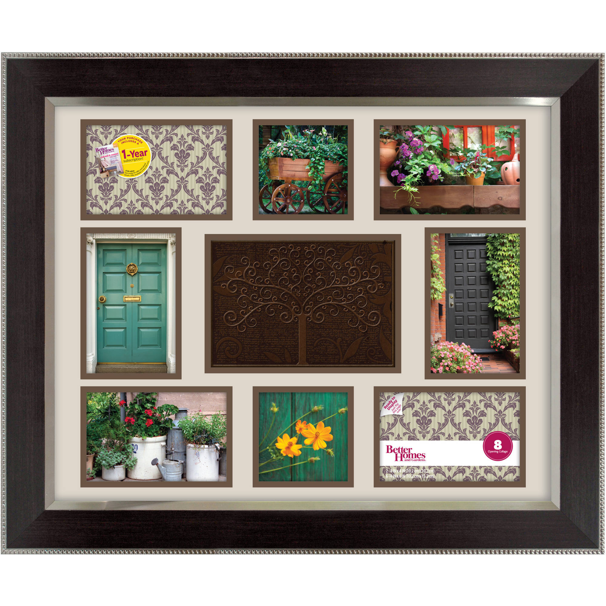7 Opening Collage Frame Black Walmart Com
