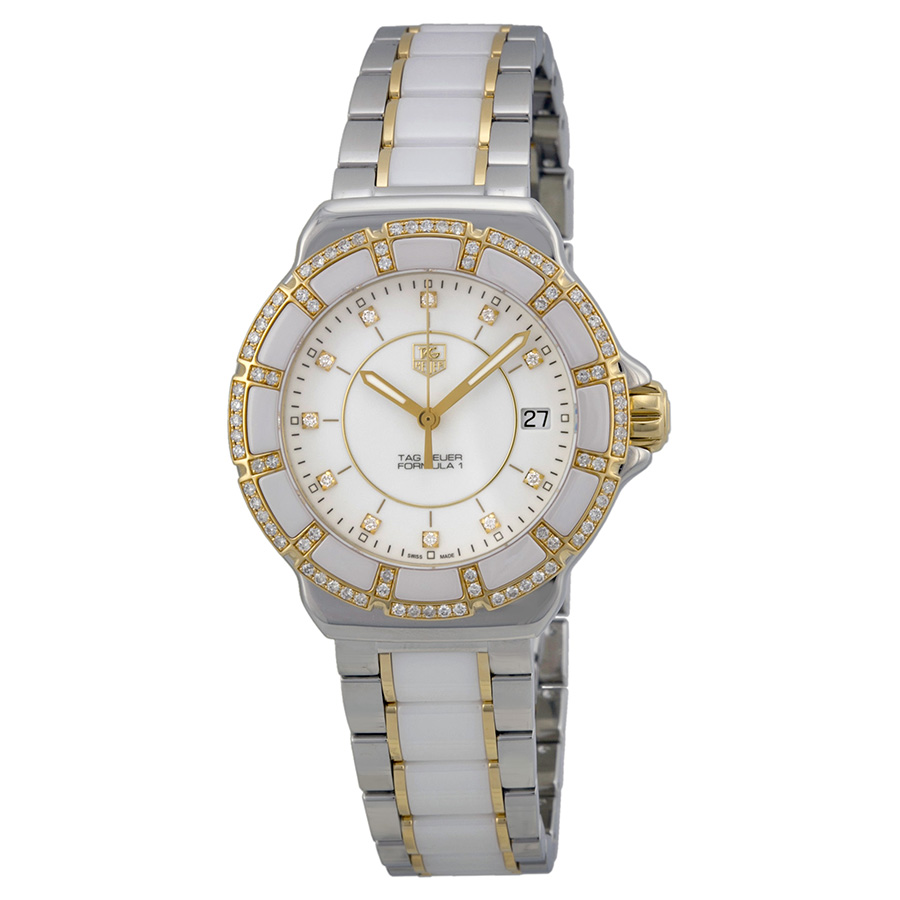Tag Heuer Formula 1 White Diamond Dial Ladies Watch WAH1221BB0865