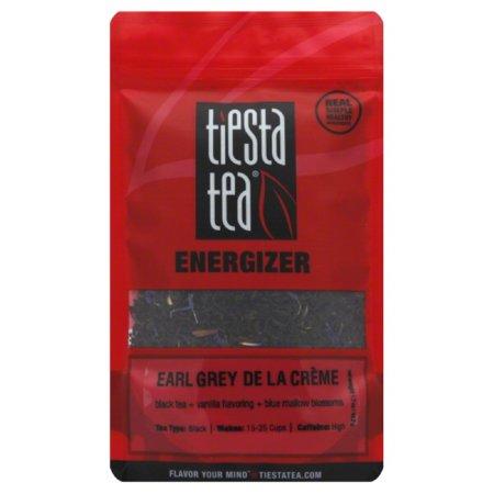 Tea Time Collection Cream (Tiesta Tea Energizer, Earl Grey de la Creme, Loose Leaf Black Tea Blend, High Caffeine, 1.7 Ounce)