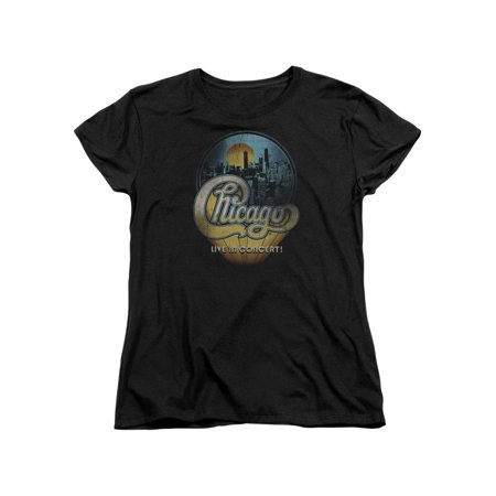 Chicago American Rock Band Live In Concert Logo Women's T-Shirt Tee - Chicago Halloween Concert