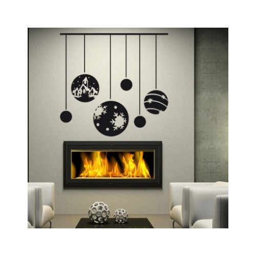 Style and Apply Christmas Ornaments Wall Decal