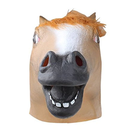 Mask Halloween Party Miami (Halloween Party Decorations Creepy Horse head latex Rubber Mask Perfect for Harlem Shake& Gangnam)