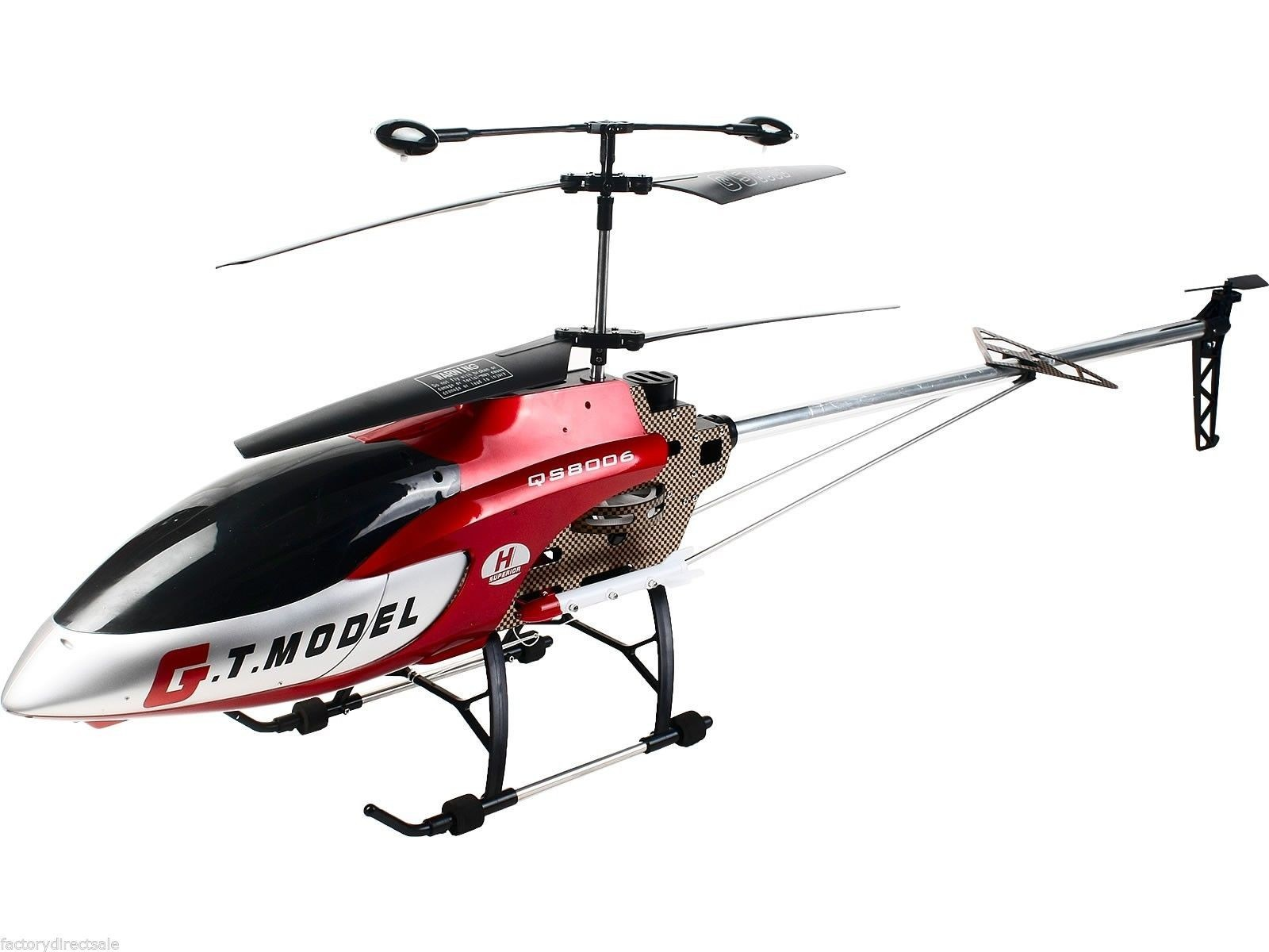 53 Inch Extra Large GT QS8006 2 Speed 3.5 CH RC LED Helicopter Builtin GYRO by Apontus