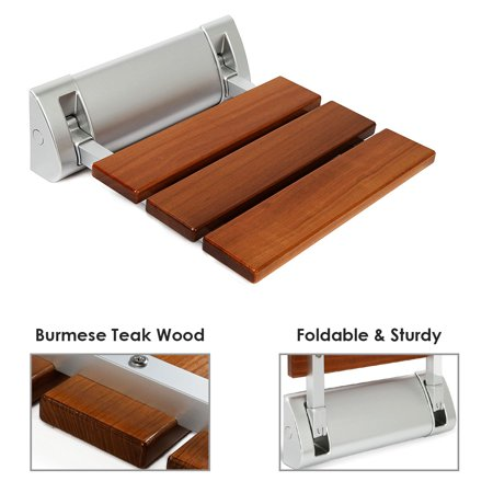 - Clevr Modern 100% Burmese Teak Wood Folding Shower Bench Seats (Multiple Sizes)