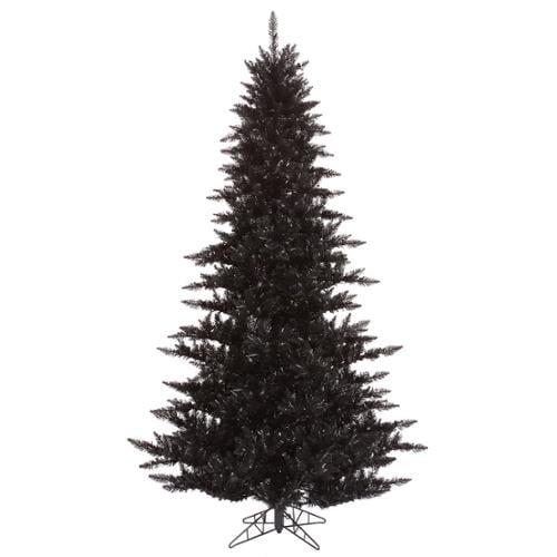 7.5' Black Fir Artificial Christmas Tree - Unlit
