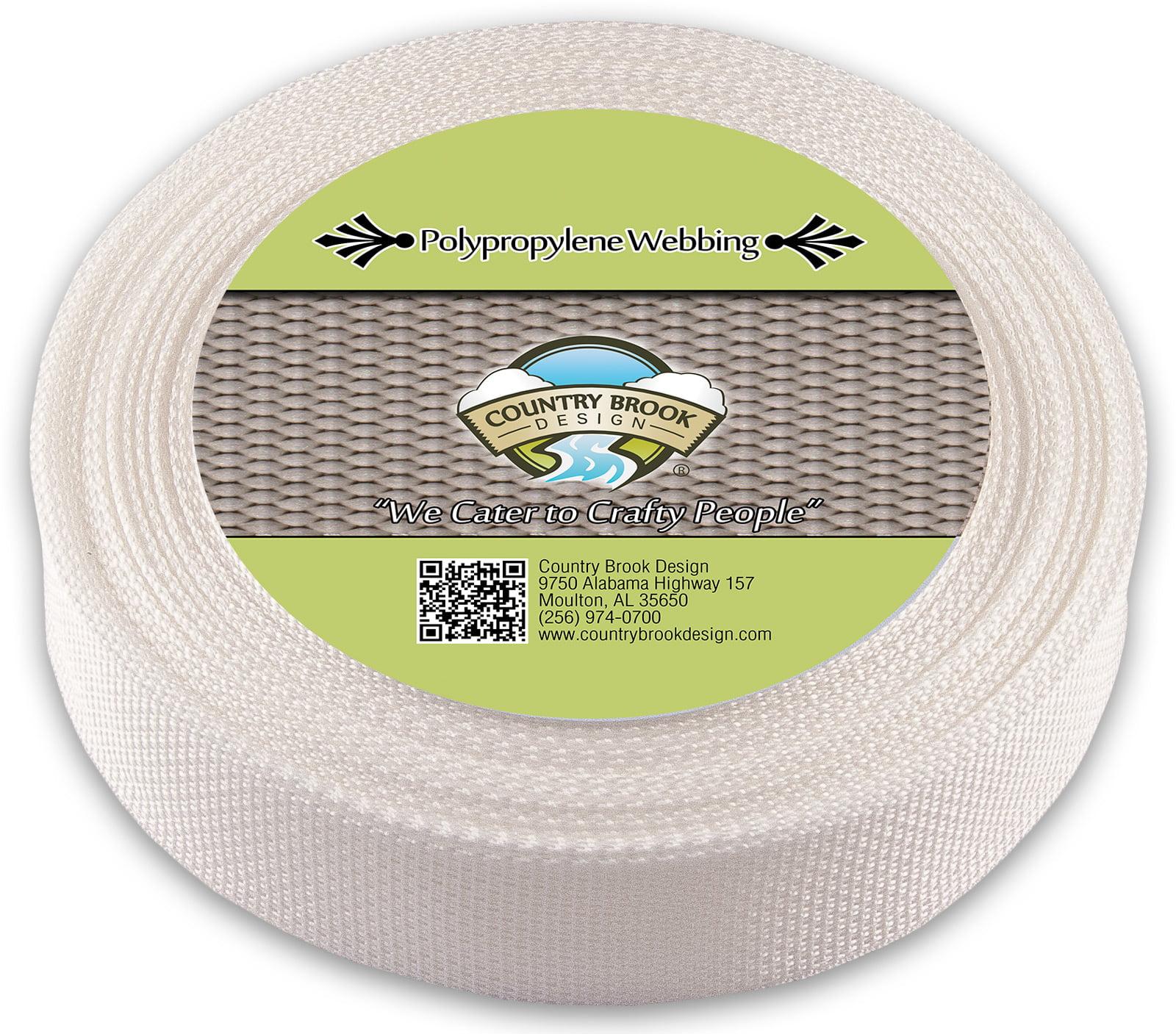 Country Brook Design White Polypropylene 1//2 Inch Webbing