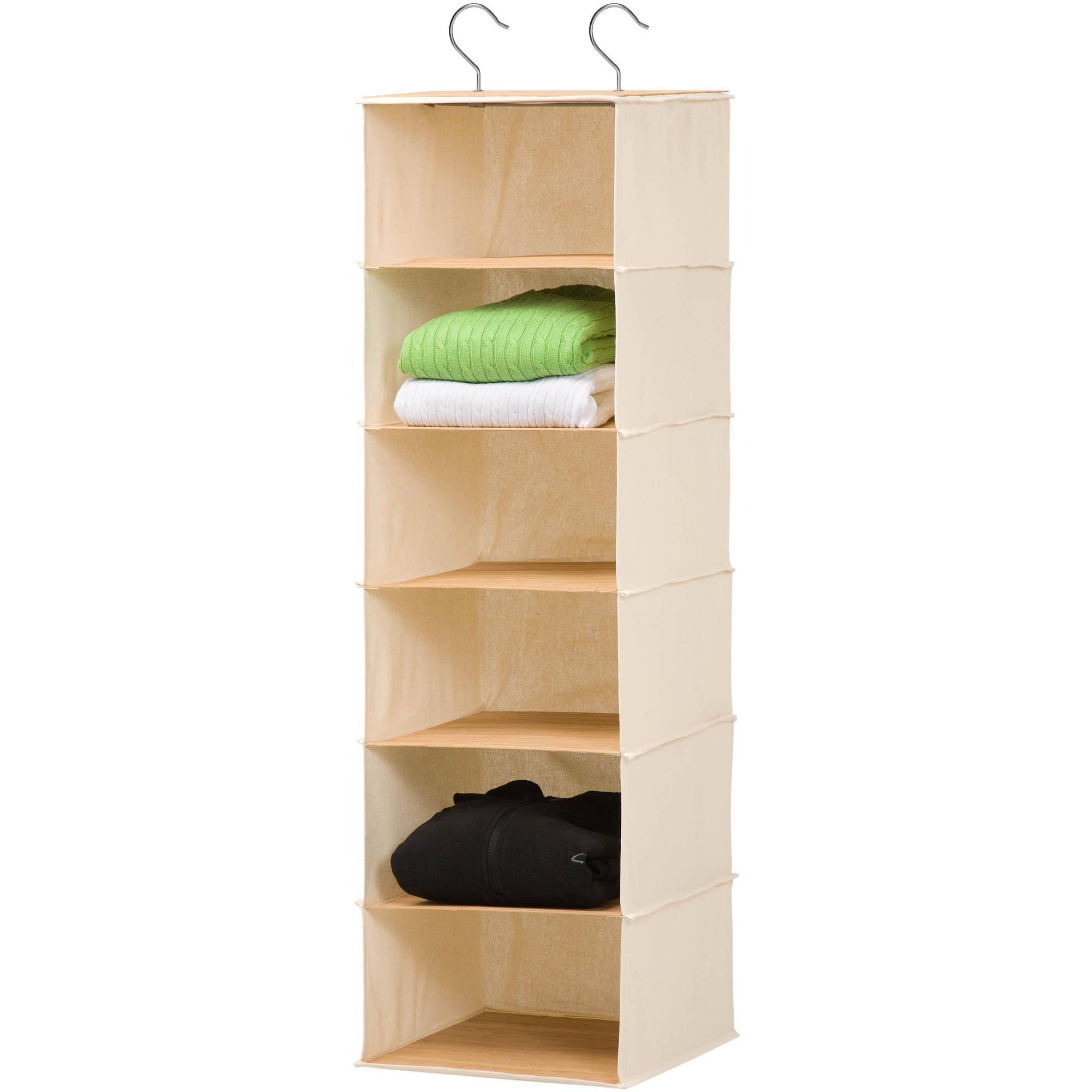 Honey Can Do 6 Shelf Hanging Organizer, Bamboo by Honey Can Do