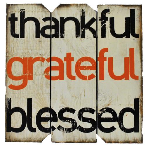 Boulder Innovations ''Thankful Grateful'' Wall D cor