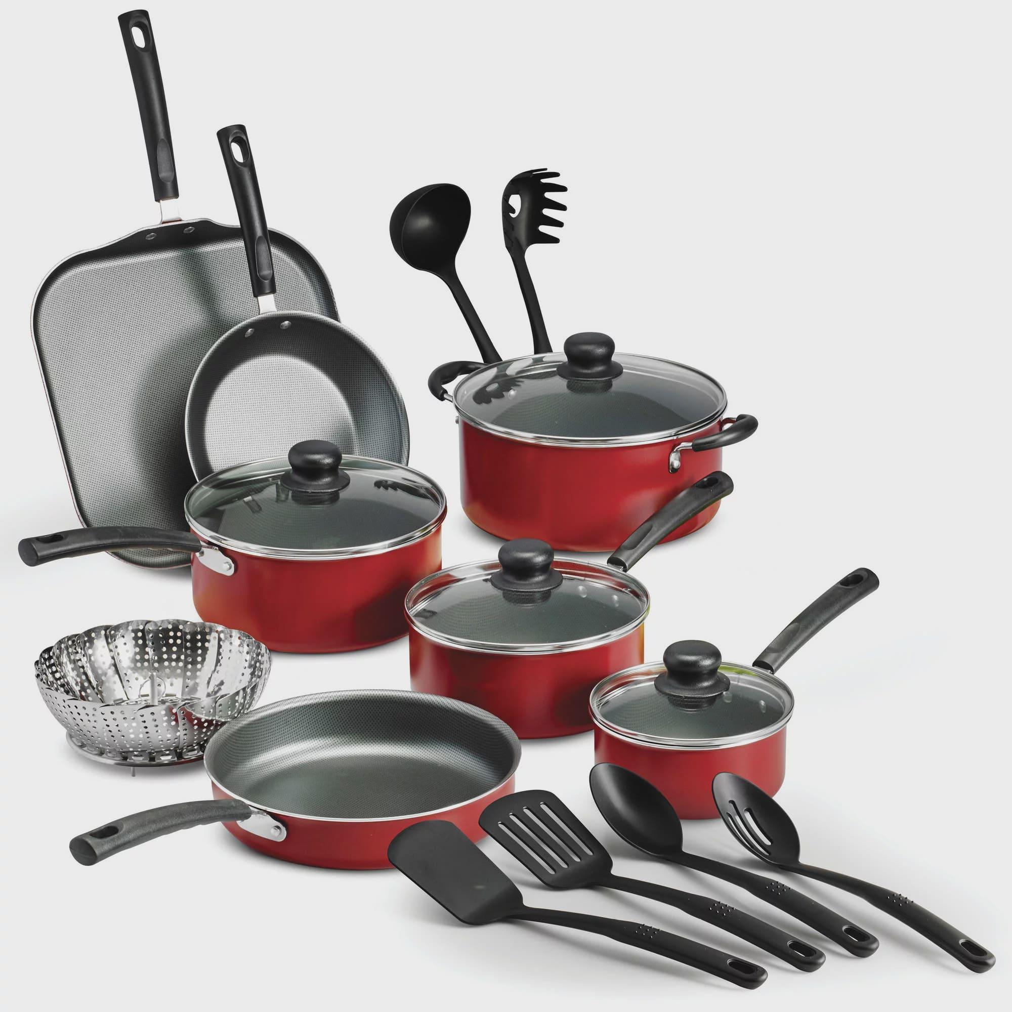 Non stick 18 piece pots and pans lids cookware set cooking - Enseres de cocina ...