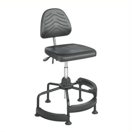 Scranton & Co Deluxe Drafting Chair in Dark Gray