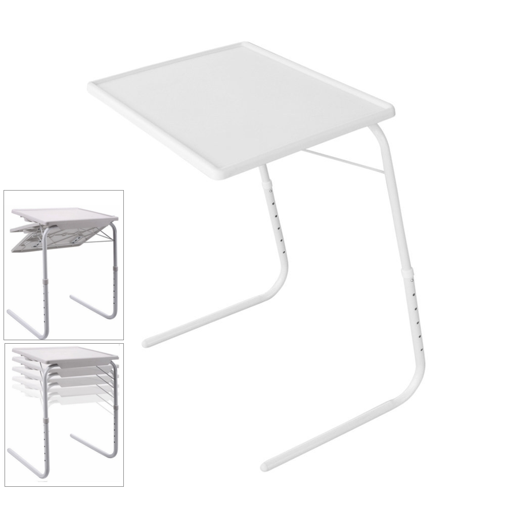 Ktaxon Small Desk Foldable Table Folding Adjustable Tray Smart Table
