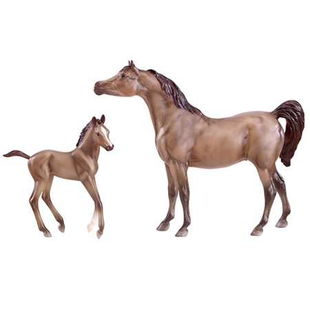 Breyer Classics Grey Sport Horse and Foal Toy Set (1:12 Scale)
