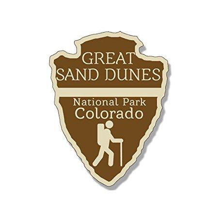 Arrowhead Shaped SAND DUNES National Park Sticker (rv camp hike colorado) (Dune Sticker)