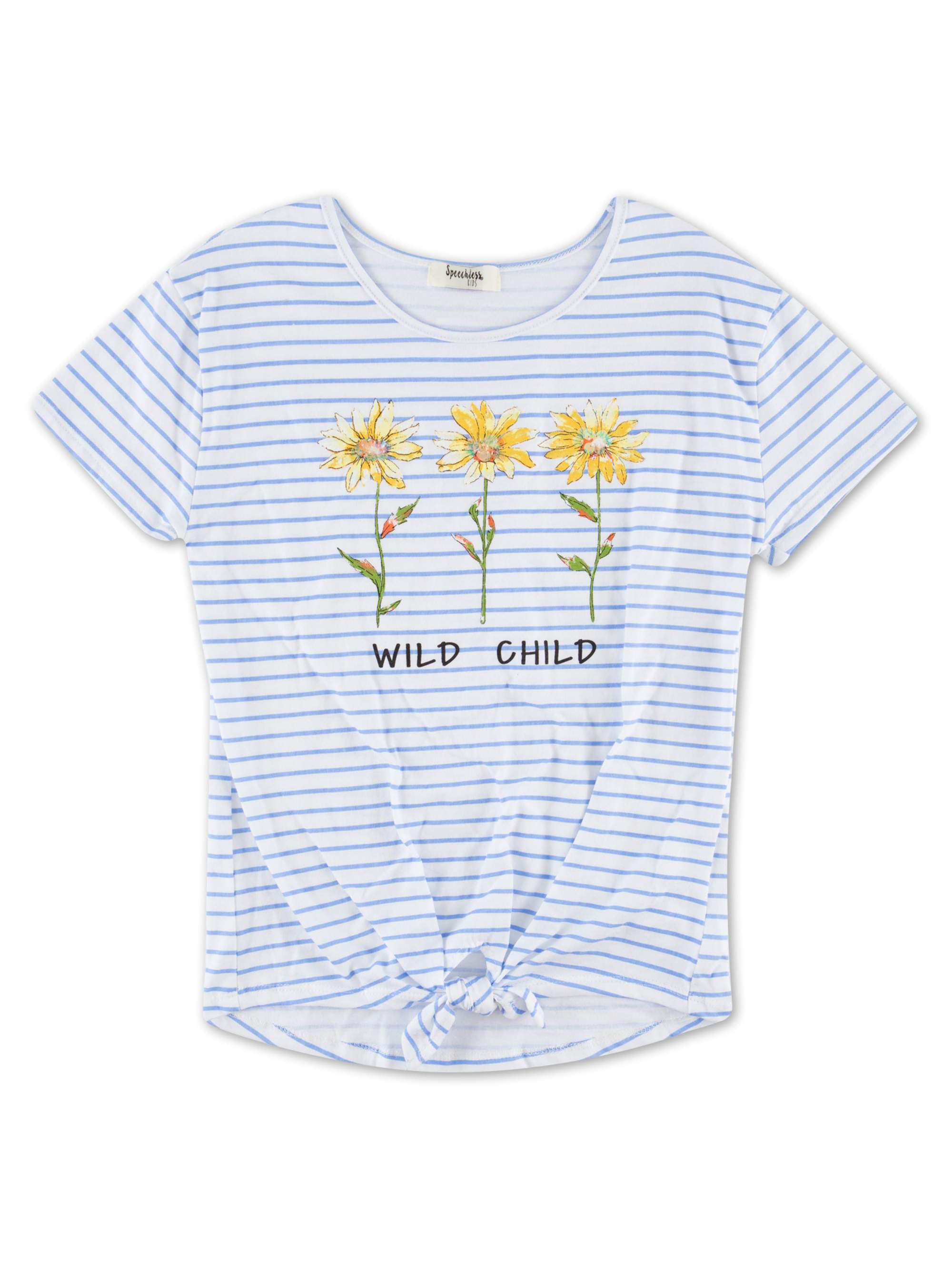 Embellished Graphic Front-Tie Tee (Big Girls)