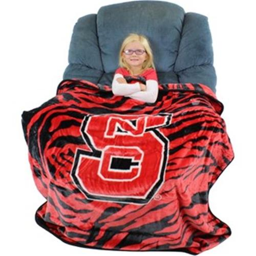 Collegecovers NCSTHSM North Carolina State Wolfpack Raschel Throw Blanket - 50 x 60