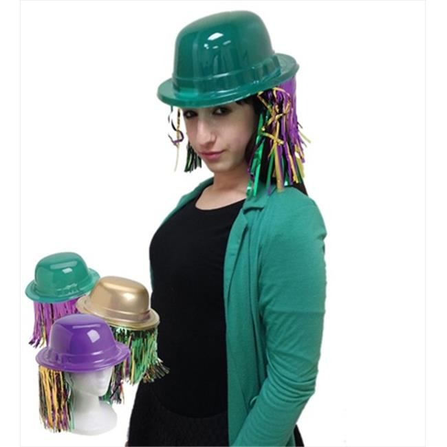 CoverYourHair am580 A Dozen Assorted Mardi Gras Derby Hats with Fringes