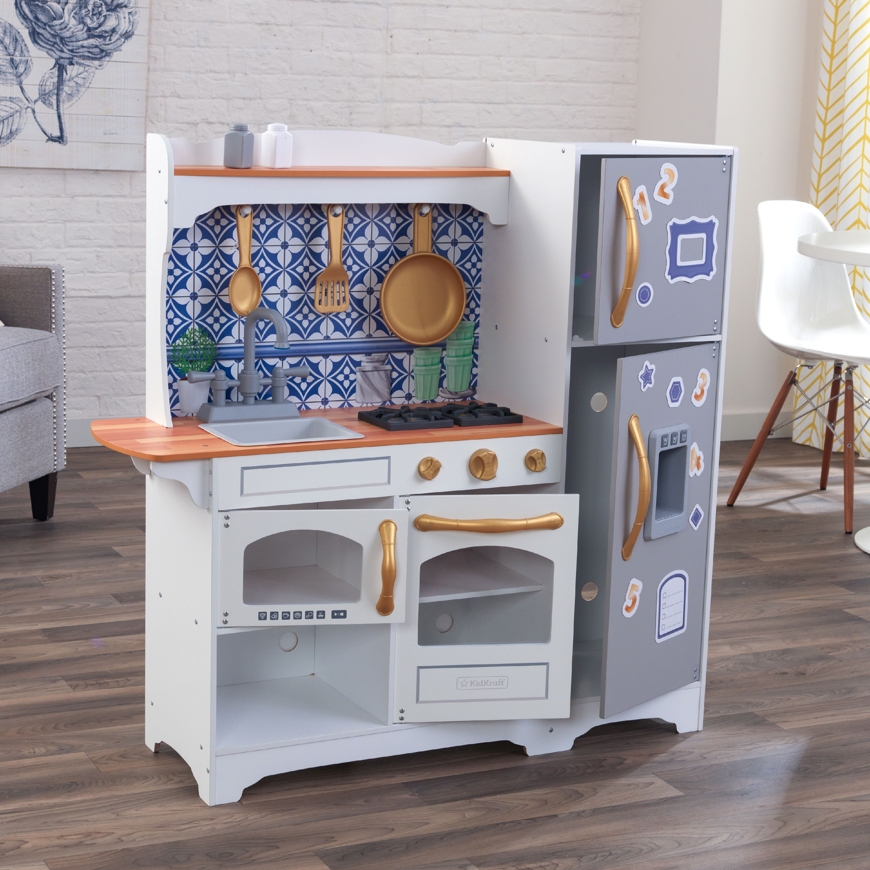 KidKraft Mosaic Magnetic Play Kitchen - Walmart.com