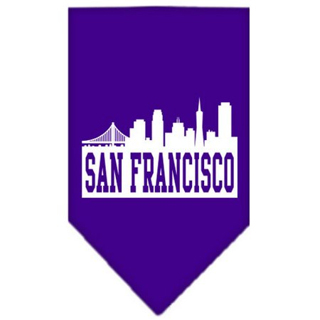 San Francisco Skyline Screen Print Bandana Purple Large
