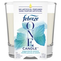 Febreze ONE Candle Air Freshener, Peppermint & Rosemary, 1 Ct