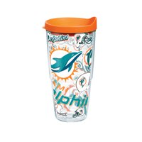 NFL Miami Dolphins All Over 24 oz Tumbler with lid