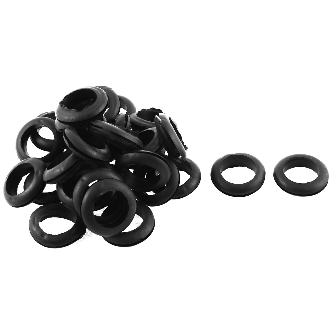 30Pcs Black Rubber Wiring Grommets Gasket Ring Cable Protector for 20mm Wire - image 1 of 1