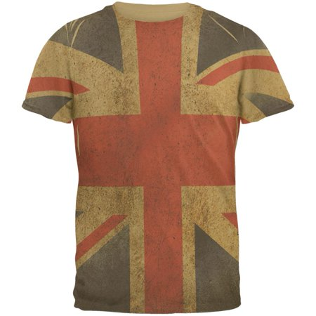 f5d69ed143 Old Glory - British Flag Union Jack Grunge Mens T Shirt - Walmart.com