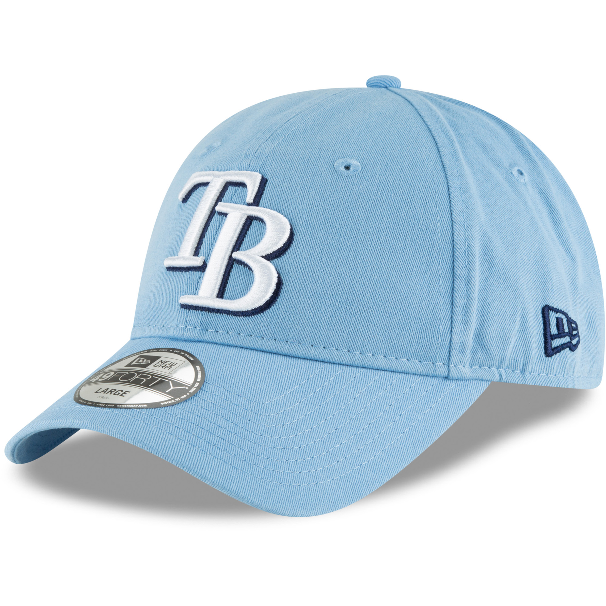 Tampa Bay Rays New Era Batting Practice Core Fit Replica 49FORTY Fitted Hat - Light Blue