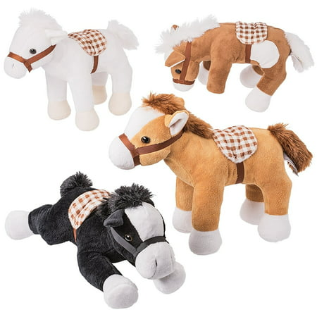 Prextex Jumbo 10'' Tall Plush Horses Stuffed Animal Horses 4 (Horse Jumbo Plush)