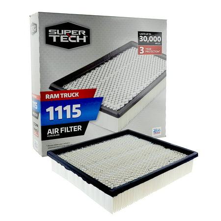 SuperTech 1115 Engine Air Filter, Replacement Filter for Chrysler or Ram Truck Ram Truck Air