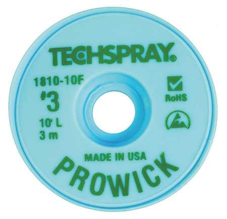 TECHSPRAY 1810-10F Pro Wick Green #3 Braid - AS