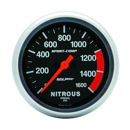 - AutoMeter 3574 Sport-Comp Electric Nitrous Pressure Gauge