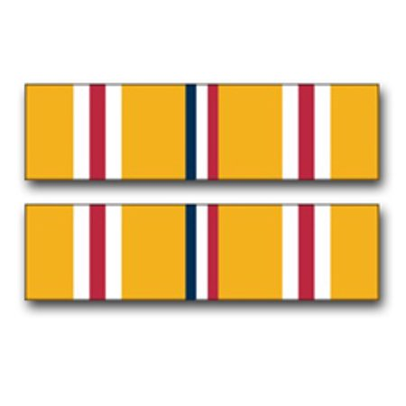 3.8 Inch Army Asiatic -Pacific Campaign Medal Ribbon Vinyl Transfer Decal Asiatic Pacific Campaign Medal