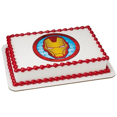 Marvels Avengers Iron Man Icon Edible CakeCupcake Party Topper