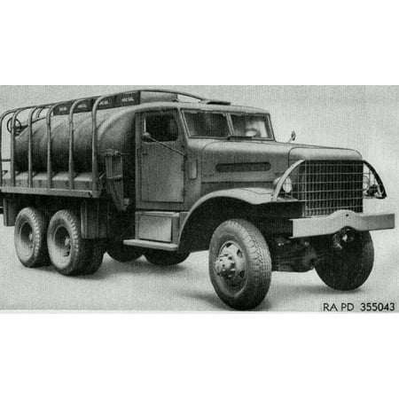 Canvas Print 6-ton Gasoline tank truck Stretched Canvas 10 x 14