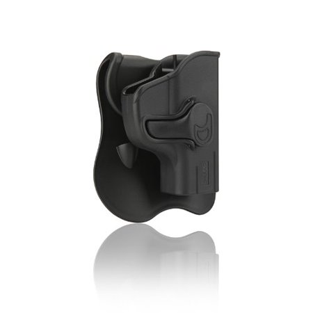 CYTAC RUGER / SCCY Paddle Holster with Trigger Release 360 degree Adjustable Cant, Polymer Holster Injection Molded for RUGER LC9 / LC380 / SCCY CPX-2 | OWB Carry, RH | 7 attachment options