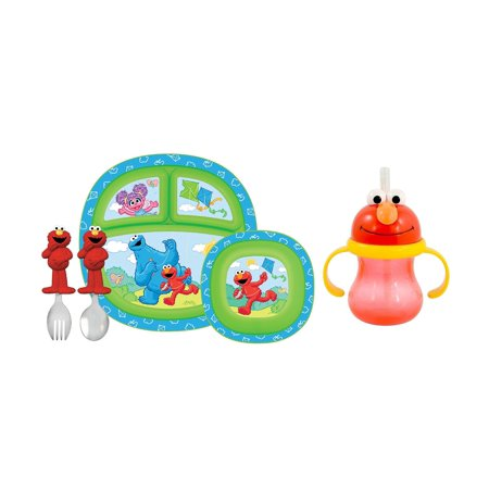 Munchkin Sesame Street Toddler Dining Set With Character
