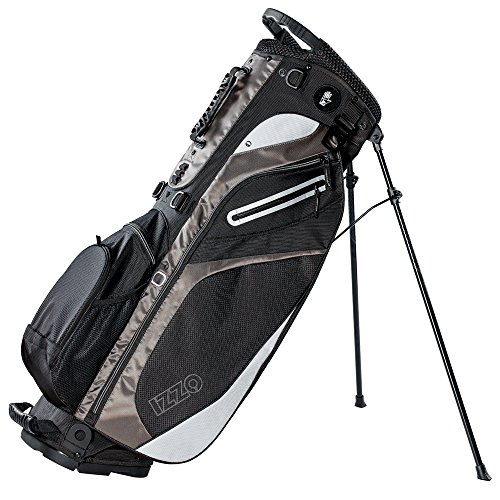 IZZO Lite Golf Stand Bag - Black