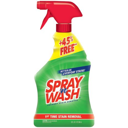 Spray N Wash Pre Treat Laundry Stain Remover 32oz Bottle 45