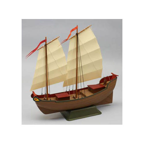 1010 Chinese Junk Boat Multi-Colored