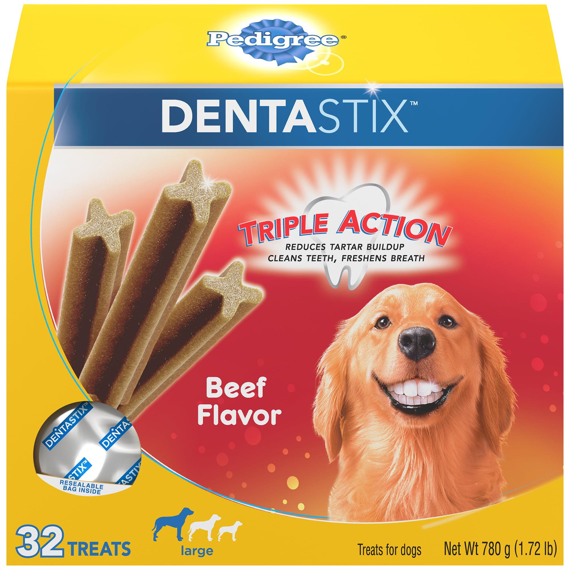 PEDIGREE DENTASTIX Large Dental Dog Treats Beef Flavor, 1