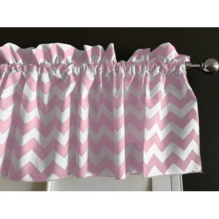 cotton zig zag chevron window valance 58 wide pink for $<!---->