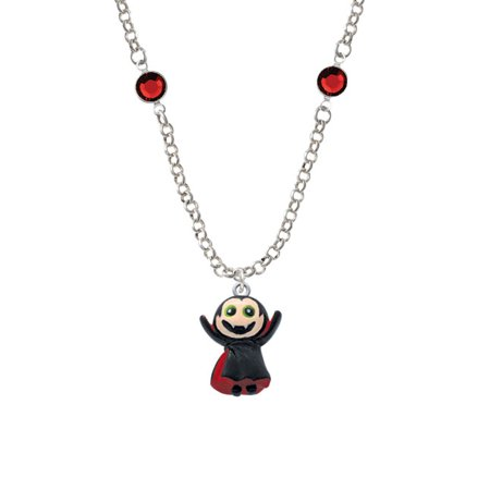 Resin Vampire Red Crystal Fiona Necklace