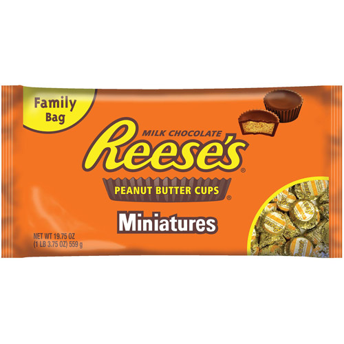 REESE'S Peanut Butter Cups Miniatures, 19.75 oz