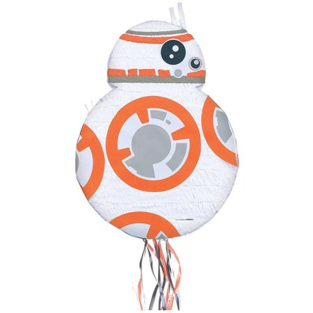 Star Wars Episode VII The Force Awakens 3D BB-8 Pull-String Pinata - Mario Star Pinata