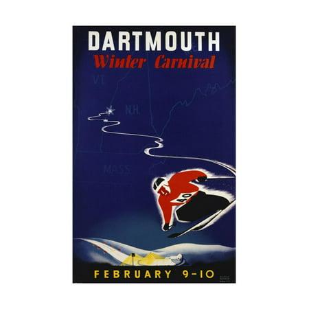Dartmouth Winter Carnival Poster Print Wall Art By John Ryland