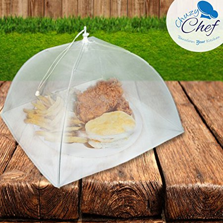 Mesh Screen Food Cover Tents - Set of 6 Large Galvanized Steel Wire Pop-Up Tents, Stylishly and Conveniently Keeps Bugs Away From Food by Chuzy Chef - image 3 of 6