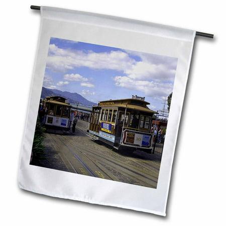 3dRose San Francisco Trolley Car - Garden Flag, 12 by 18-inch San Francisco Trolley