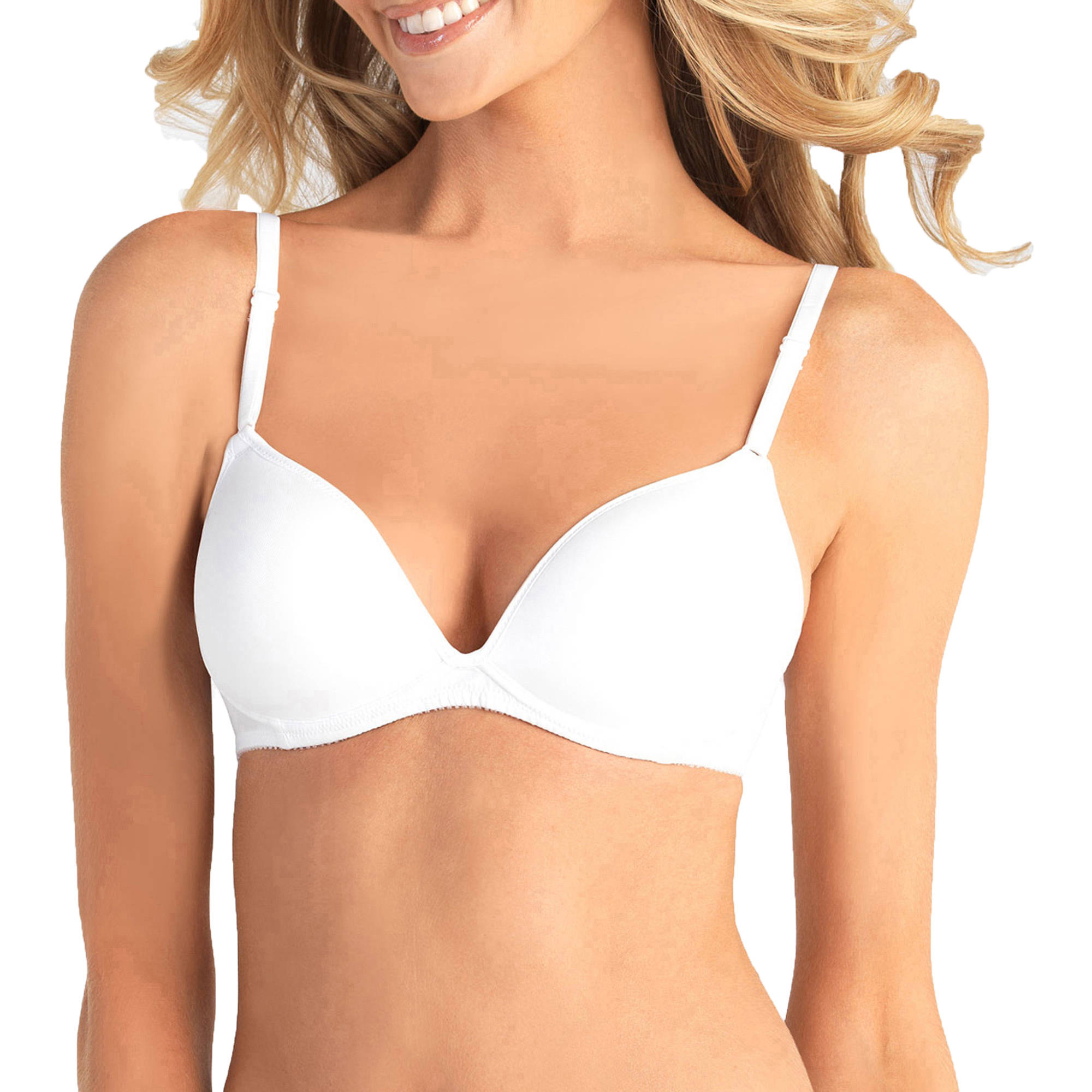 Vassarette - Women's Soft 'N Smooth Microfiber Wire-Free Level 1 Lightly Lined Bra