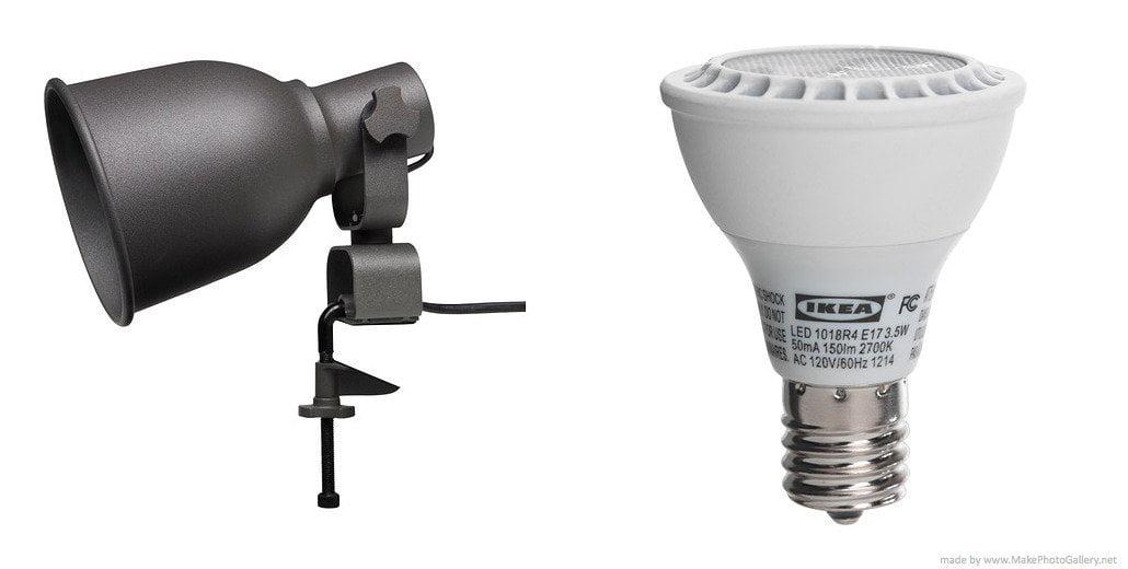 Ikea Wall Clamp Spotlight And Ledare Led Bulb E17 Reflector R14